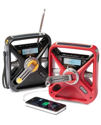 Eton Hand Turbine NOAA AM/FM Weather Alert Radio with Smartphone Charger by Eton