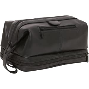 AmeriLeather Leather Toiletry Bag by AmeriLeather