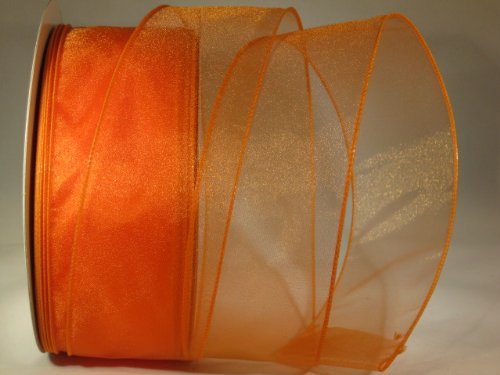 "Orange Sheer Ribbon - 2.5"" X 10 Yd Cut at Amazon.com"