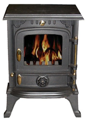 Vortigern 4kW CAST IRON WOODBURNING MULTIFUEL STOVE V13S - genuine CE certificate issued in the UK.