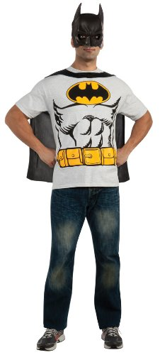 Rubies Costume Co Mens Dc Comics Batman T-shirt With Cape And Mask