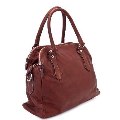DELARA Handtasche aus Nappa-Leder, Farbe: Braun