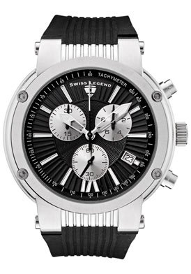 Swiss Legend Men&#8217;s 10006-01-SB Legato Cirque Collection Chronograph Rubber Watch