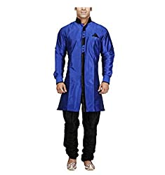 Royal Mens Blue Indo Sherwani_44