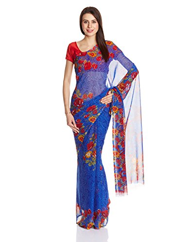 Silkbazar Synthetic Saree With Blouse Piece