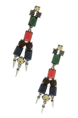 Karmas Canvas Mix Spike Drop Earrings (Multi) front-1008244