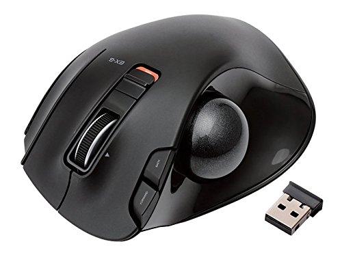 ELECOM マウス トラックボール ワイヤレス 握りの極み 6ボタン ブラック M-XT3DRBK