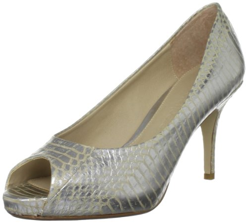 Moda in Pelle Women's Catherine Silver Open Toe Cat02 3 UK