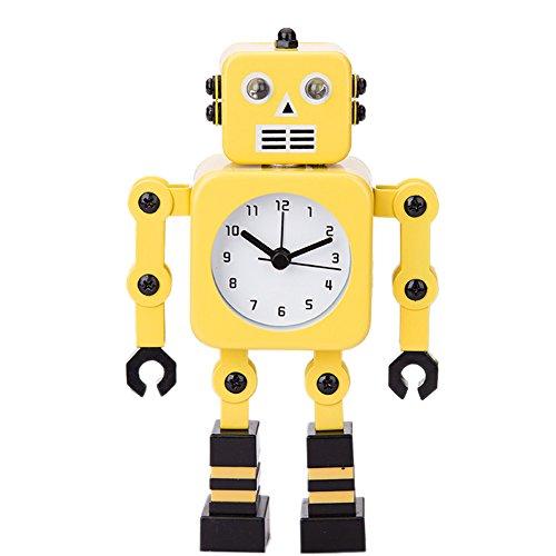 Robot Horloge Movable chevet alarme horloge analogique yeux šŠtincelants Et Son H