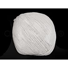 CleverDelights 500 Foot White Paper String Ball - Eco-Friendly Twine String Rope Roll - Over 150 Meters