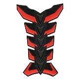 Red Motorbike 3D Pad Racing Decal Fiber Sticker Skeleton Rubber Gas Tank Protector For Yamaha FZ6 FAZER/S2 2004 2005 2006 2007 2008 2009 2010
