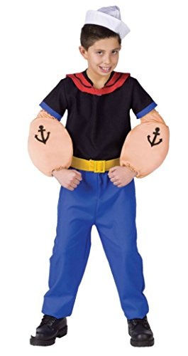 Boys Popeye Kids Child Fancy Dress Party Halloween Costume