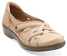 Clarks Women\'s Evianna Peal Mary Jane Beige Leather Size 10 B(M) US