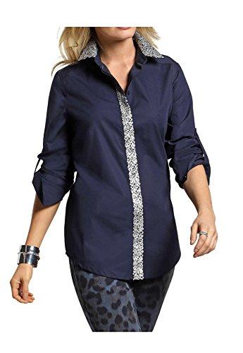 Alba Moda - Camicia - Opaco -  donna Blu marino 42