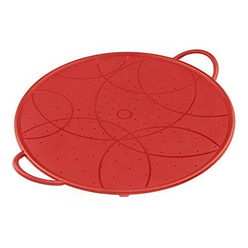 Kuhn Rikon 23634 Couvercles Anti-Projection Silicone Rouge 30 cm