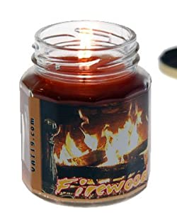 Fireplace Scented Jar Candle - 6.5 oz
