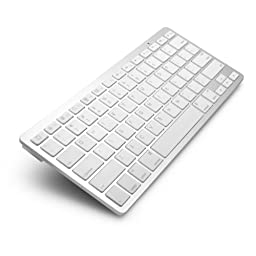 Universal Aluminum Bluetooth Keyboard for iPad, tablets, and computers