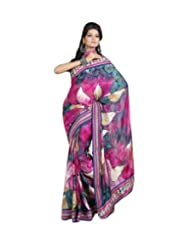 Triveni Designer Fancy Saree With Unstitch Blouse - 11012