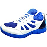 Adler Men's Running Sports Shoes Synthetic Leather And Lightweight Comfortable Sole (White)