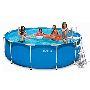 Piscine tubulaire intex metal frame 3 66x h0 99m amazon for Piscine intex amazon
