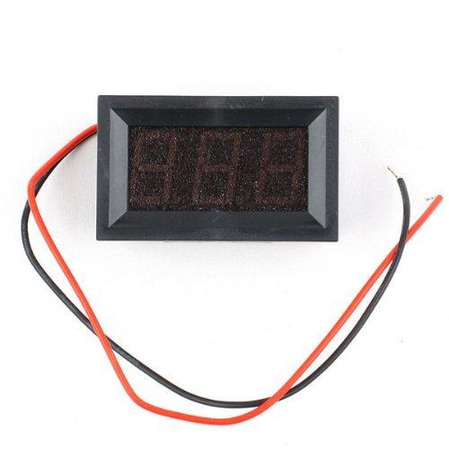 Efuture(Tm) Mini 2 Wire Dc2.5-30V Led -Red Panel Digital Display Voltage Meter Voltmeter +Efuture'S Nice Keyring