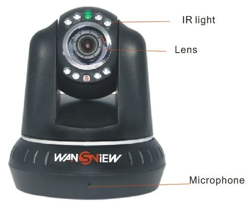 Wansview Ncb545w Wireless Wifi Cctv ip camera, Security IR Night Vision Motion Dectect, Free Ddns for Remote View, Support Iphone at Sears.com