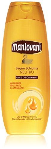 Mantovani - Bagno Schiuma Neutro, Con 3 Oli Cosmetici - 500 Ml