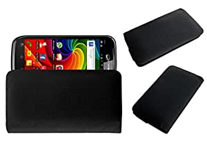 Acm Rich Leather Soft Case For Micromax A84 Mobile Handpouch Cover Carry Black