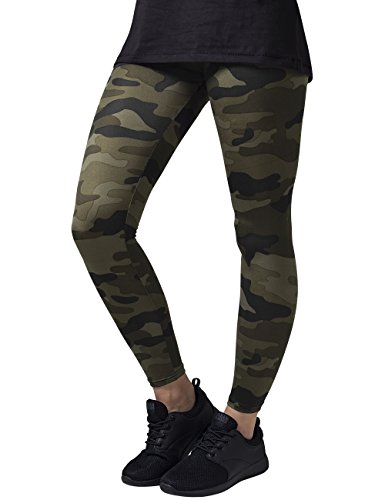 Urban Classics Ladies, Leggings Donna, Mehrfarbig (Wood Camo 396), W40