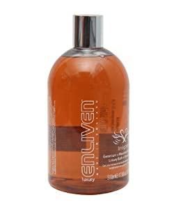 Enliven Invigorating Geranium and Mountain Pepper Luxury Shower Gel, 500ml