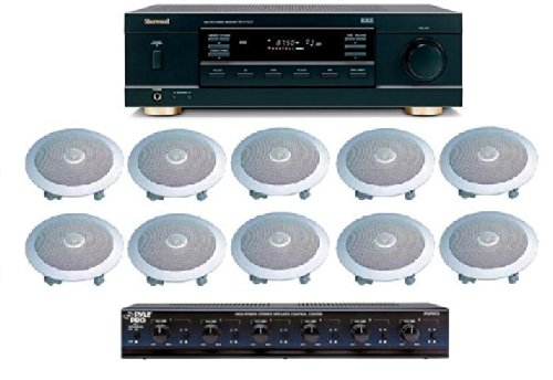 Distributed Home Audio Whole House Sound System- Ceiling Speakers For 5+ Rooms