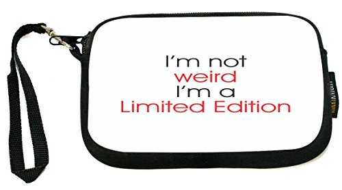ukbk-im-not-weirdlimited-edition-weird-neoprene-clutch-wristlet-with-safety-closure-ideal-case-for-c
