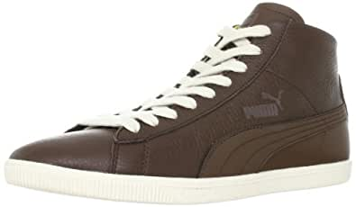 Puma Glyde Leather Mid 354373, Unisex - Erwachsene Klassische Sneakers, Braun (carafe-warm olive-birch 01), EU 40 (UK 6.5) (US 7.5)