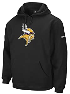 NFL Men's Minnesota Vikings End Zone Playbook Hood (Black, Large)