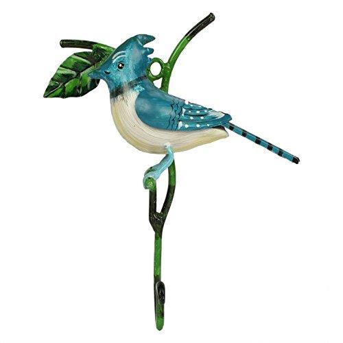 Wonderland Home decor Hooks / hook BLUE jay bird