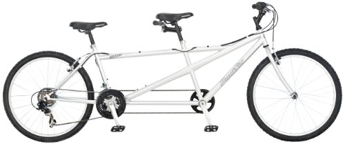 Pacific Dualie Tandem Bicycle (26-Inch Wheels), Silver, 18-Inch