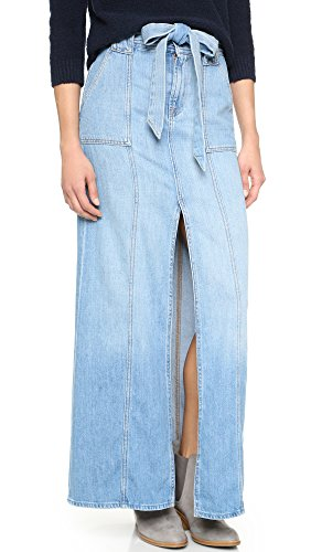 7 For All Mankind Women's Long Belted Skirt, Amalfi, 32
