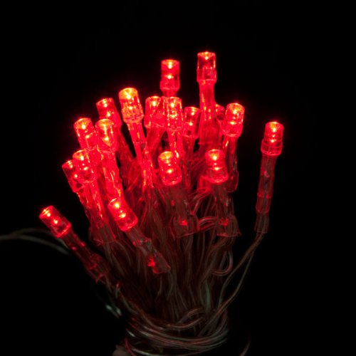 20 RED LED Fairy Christmas Haloween Wedding Party Lights 2 metre & Battery Operated with ON, OFF & FLASH switch