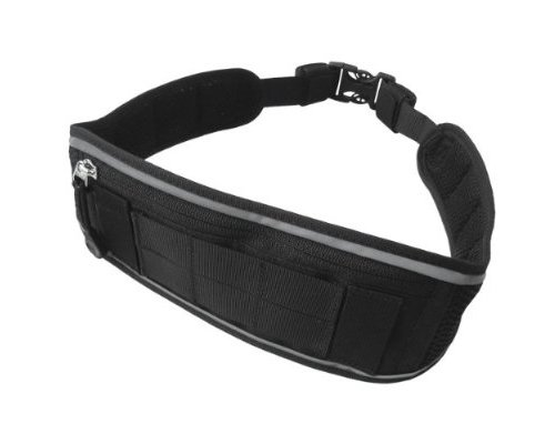 Civilian Civilian Ijog Running/Hiking Belt with High Visibility Reflector, Black