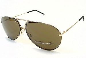 Porsche Men's P'8433 P8433 A Gold Aviator W/Extra Lenses Sunglasses