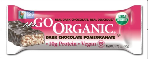 NuGo Organic Nutrition Bar, Dark Chocolate Pomegranate, 1.76-Ounce Bars (Pack of 12) (Nugo Bars Organic compare prices)