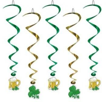 St. Patrick's Day Whirls 40in 5/Pkg Pkg/1