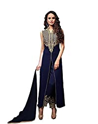 Merito Blue Georgette Angelic Fancy Dress Material