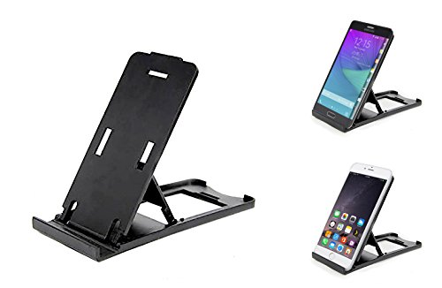Stationary Station  phone or Mini Tablet Stand, Adjustable Height, Folds Flat for Easy Travel, fits iphone 5,6,6s Galaxy S3,S4,S5 and more