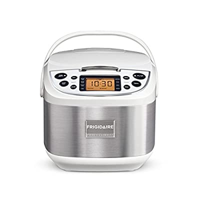 Frigidaire Professional 10-Cup Fuzzy Logic Rice Cooker, 11 Cooking Settings with Stainless Steel by Frigidaire Professional