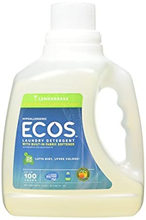 Earth Friendly Products Ecos Liquid Laundry Detergent, Lemongrass