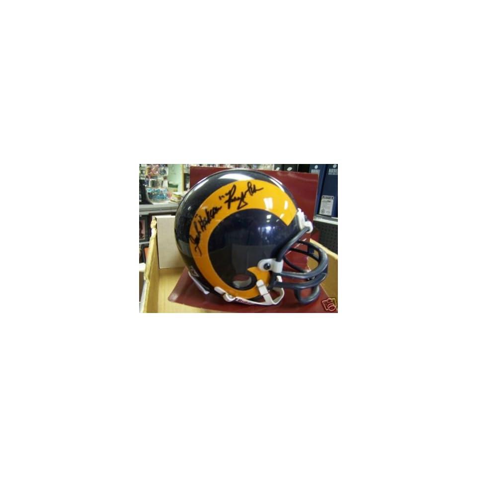 Hacksaw Reynolds Los Angeles Rams Signed Mini Helmet