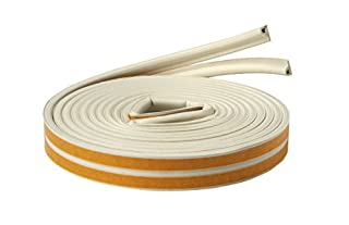3M RWS-P110 Heavy Duty Rubber Weatherstrip P-Profile, 0.35-Inch x 19.7-Feet, White