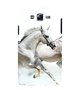 printtech Nature Animal Horse Back Case Cover for Samsung Galaxy Grand 3 G720 / Samsung Galaxy Grand Max G720