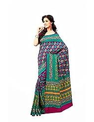 First Loot Designer Party Wear Raw Silk Green Saree -2379